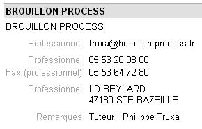Brouillon process