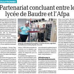Partenariat avec le lycée Jean-Baptiste de Baudre