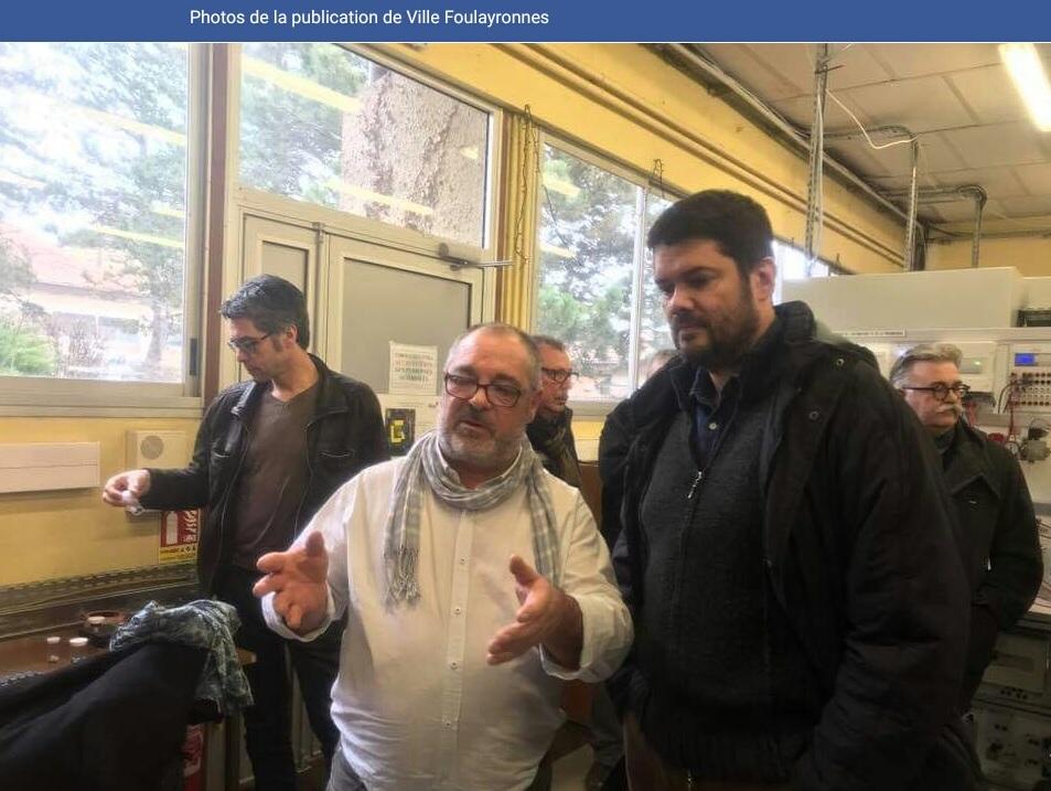 Visite du maire de Foulayronnes