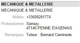 Mecanique metallerie